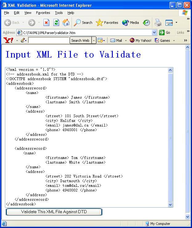 XML Parser Tutorial