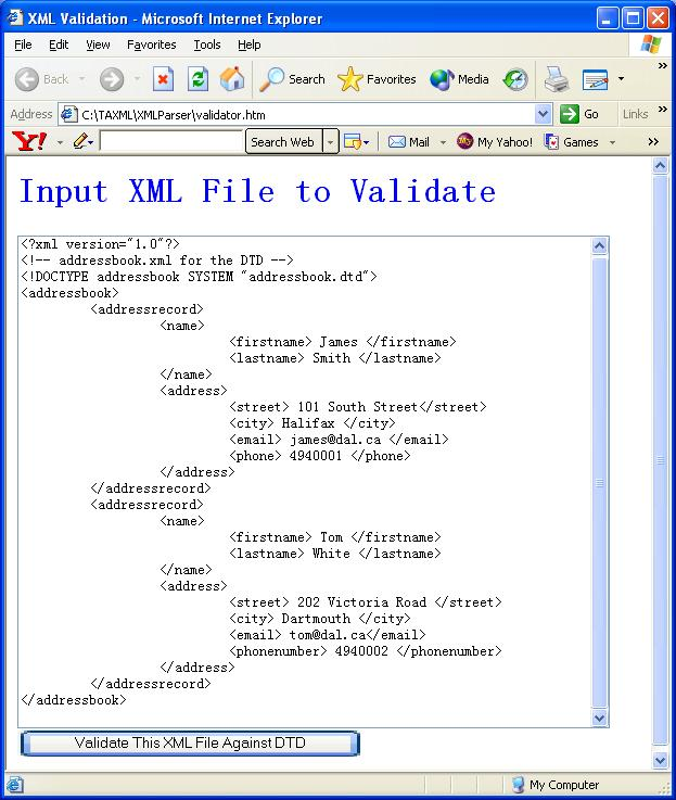 Xml Parser Tutorial